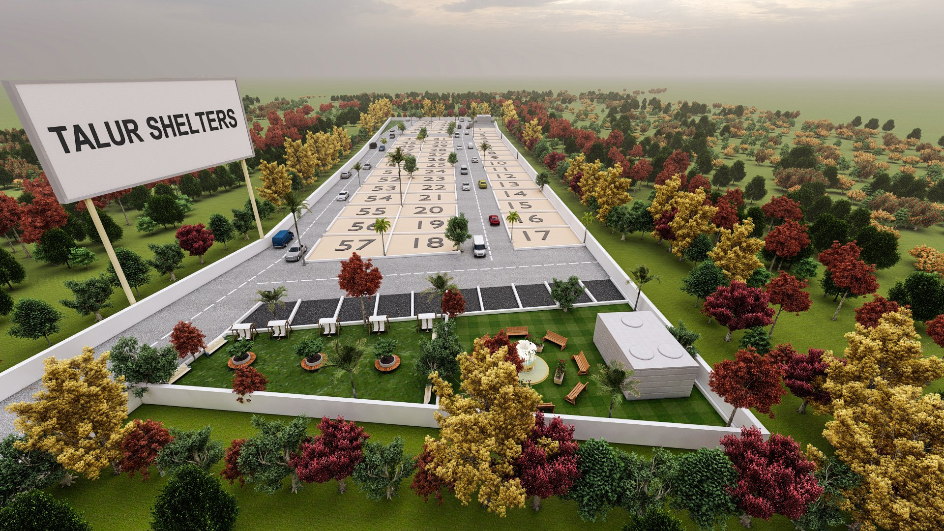Talur Shelters by GSS Projects Mysore Aerial View